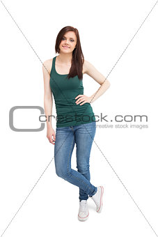 Smiling casual woman posing