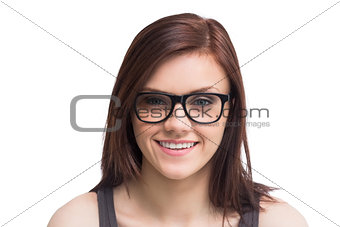 Pretty young woman wearing glasses posing