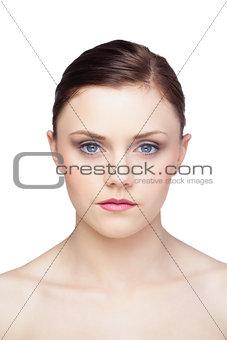 Beautiful brunette posing