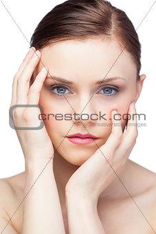 Attractive fresh brunette posing