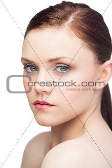 Pretty sensual brunette posing