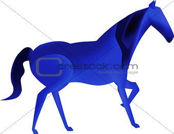 Blue mesh horse
