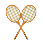 Two crossed tennis rackets