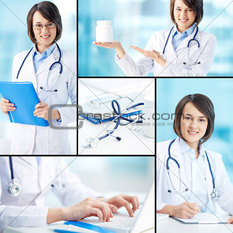 Clinician working