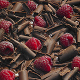 raspberries with chocolate