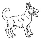 Stylised dog illustration