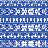 Nordic christman seamless pattern with men and women