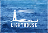 Lighthouse vector poscard, poster