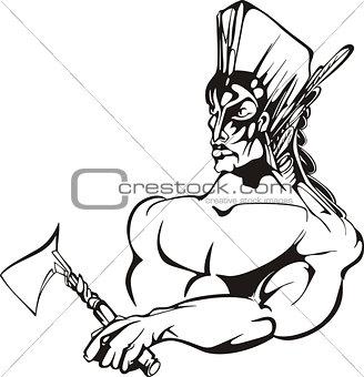 American indian warrior