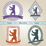 Vintage stamp Berlin