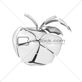 Broken ceramic apple