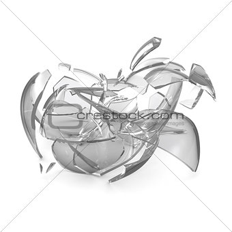 Broken glass apple