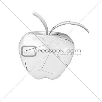 Broken ceramic apple