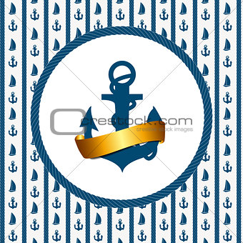 Abstract sea grunge background. Vector illustration
