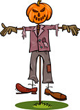 halloween scarecrow cartoon illustration