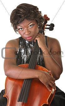 Pensive Cello Performer