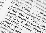 Macro image of dictionary definition of brainstorm