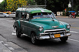 Classic old american car on the streets of Havana, Cuba