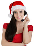 Christmas Call Center Girl