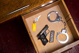 Desk Drawer of a Law Enforcement Officer