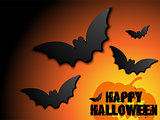 Halloween Bat Frame Pumpkin Background