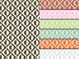 Seamless Circle Pattern Colorful Set Vector