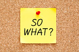 So What Sticky Note
