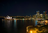 sydney harbour in australia by night