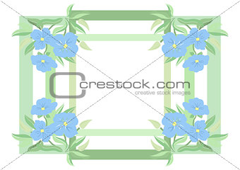 Abstract flowers and frame
