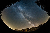 Milky Way over Latemar, Dolomiti