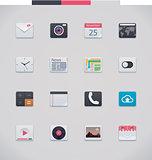 Vector generic UI icons