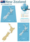 New Zealand maps with markers