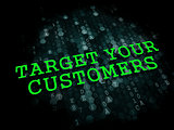 Target Your Customers. Business Concept.