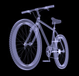 Bicycle. The X-ray render