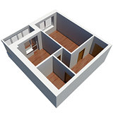 3d apartment plan