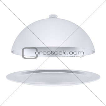 Plate with metal cover