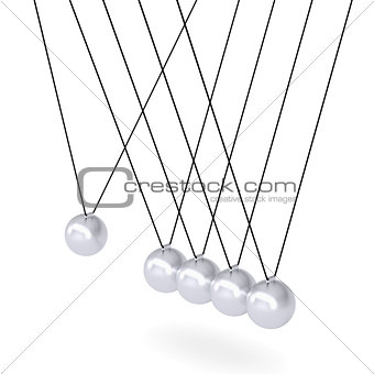 Close up of Newton's cradle