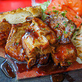 juicy grilled pork