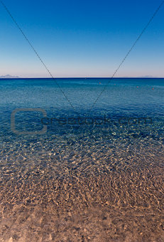 Blue sea, limpid water panorama