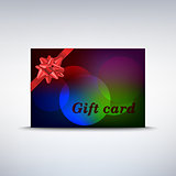 Colorful gift card with ribbon