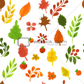 Autumn leafs pattern