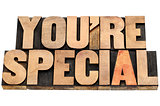 you are special in wood type