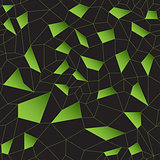 Green vector mosaic grid