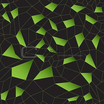 Green vector mosaic grid