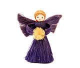 Handmade straw Christmas angel ornament