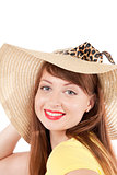 portrait of the girl in a straw hat