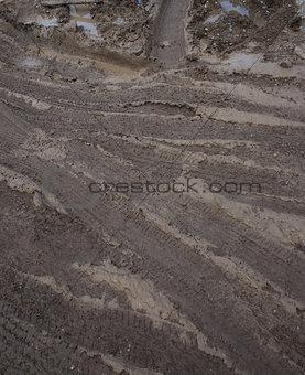Country muddy rut