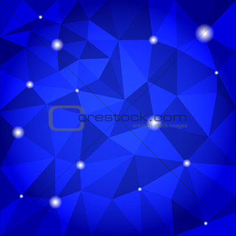 Blue abstract triangle background.