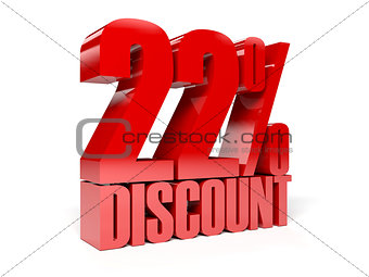 22 percent discount. Red shiny text.