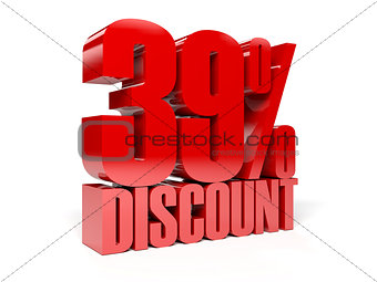 39 percent discount. Red shiny text.